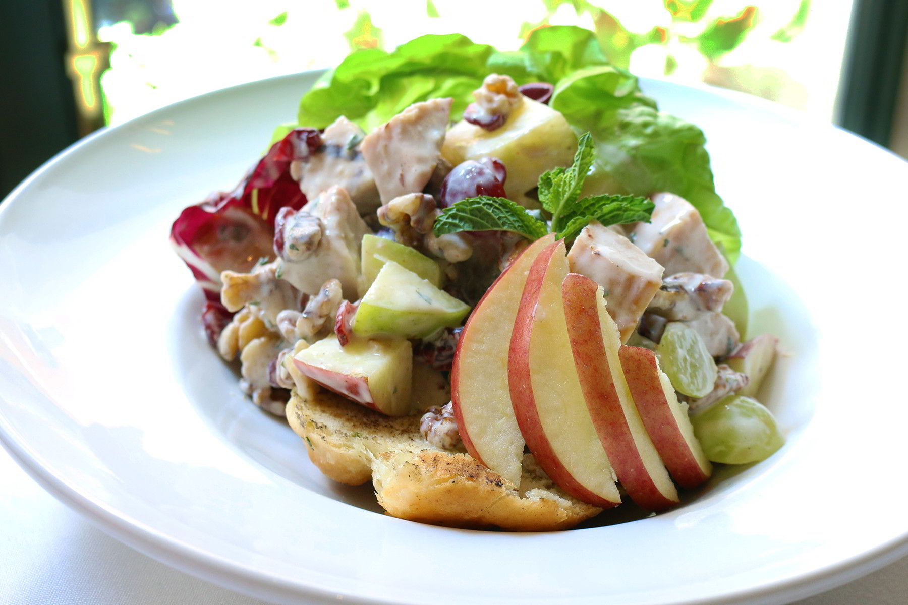 Forbidden Waldorf-Salad With Smoked Turkey Recipe — Dishmaps
